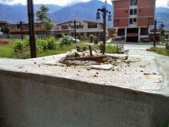 Mérida. Allí estaba el busto del general Rafael Urdaneta. Foto Samuel Hurtado Camargo / archivo IAM Venezuela, 2 de noviembre de 2017