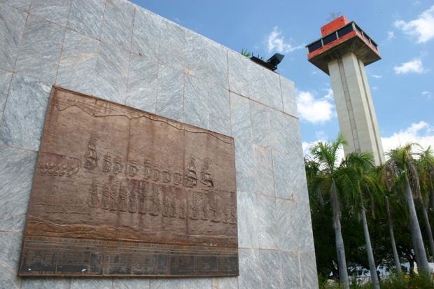 Relieves de la Batalla Naval del Lago. Foto cortesía del Diario La Verdad.