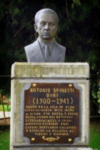 Busto de Antonio Spinetti Dini luego de su restauración. Foto meridamundo.com. 2009.