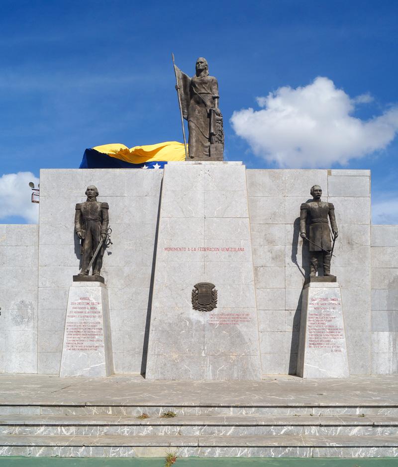 Monumento a la Federación, en Coro, Falcón. Foto Francisco Colina Cedeño / Archivo IAM Venezuela, agosto de 2018.