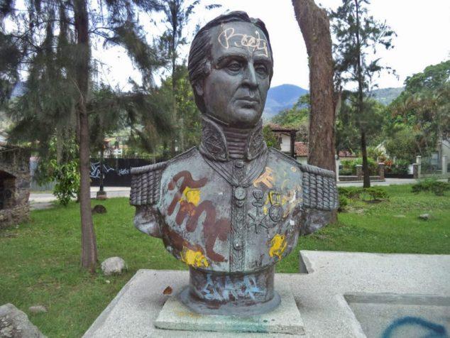 Busto de Rafael Urdaneta. Foto Samuel Hurtado Camargo.