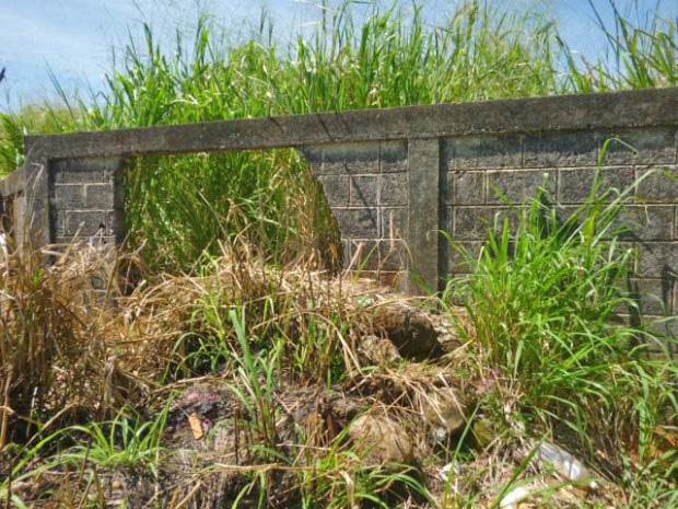 Delincuentes rompen la cerca para llevarse lápidas de bronce y mármol del cementerio de Barinitas. Barinas - Venezuela. Foto Marinela Araque / archivo IAM Venezuela, septiembre 2017.