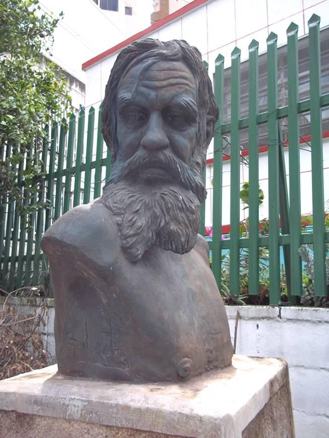 Busto de Armando Reverón, Silvestre Chacón, Macuto. Foto en blog Escritos de un Salvaje.