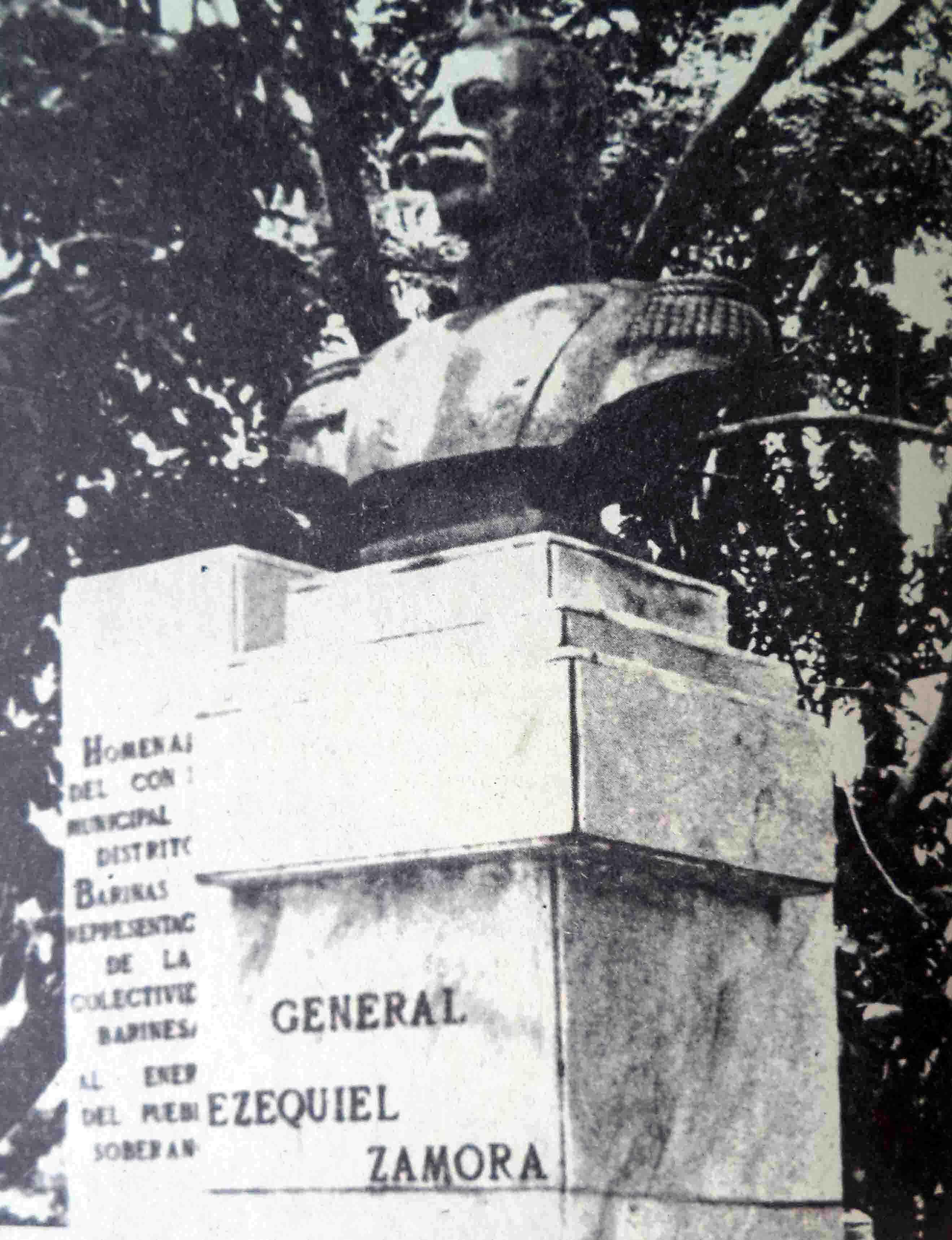 Busto de Ezequiel Zamora. Dig. Samuel Hurtado Camargo.
